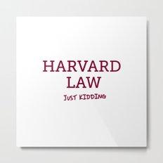 Harvard Law Metal Print