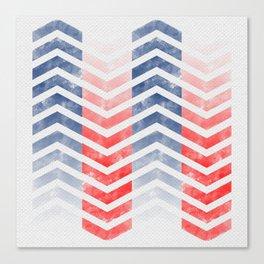 Chevron in Red White & Blue Canvas Print