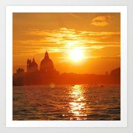 Glowing Sky Sunset Art Print