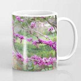 Fuchsia Floral Landscape Coffee Mug