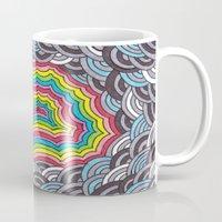 geode Mugs featuring Rainbow Geode by Audrey Pixel Designs