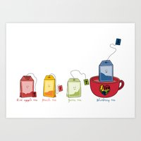 tea Art Prints featuring tea by Emma Harckham