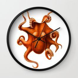 Octopus by Ernst Haeckel Wall Clock