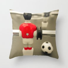 Table Football 01A - Defender | Red Throw Pillow