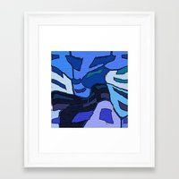 palo alto Framed Art Prints featuring Blue Alto  by Jane Holloway Designs