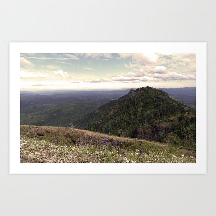 Find Stability, hiking, Saddle Mountain Art Print