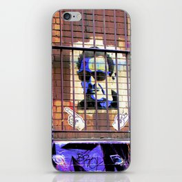 Melbourne Graffiti Street Art - Bono behind bars iPhone Skin
