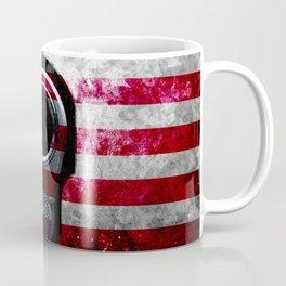 M1911 Colt 45 and American Flag on Distressed Metal Coffee Mug