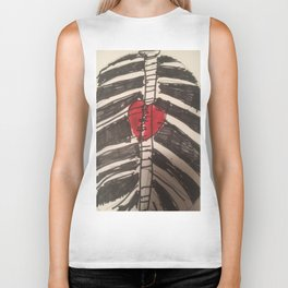 Rib cage with heart hoodie and t-shirt part of my  Goth collection Biker Tank