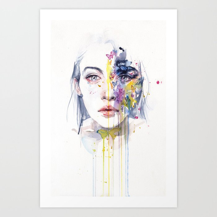 Discover the motif MISS BOW TIE by Agnes Cecile as a print at TOPPOSTER