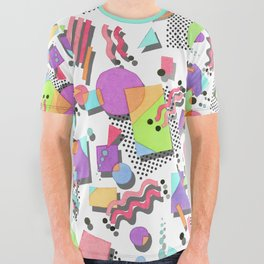 Rad 80s Memphis All Over Graphic Tee