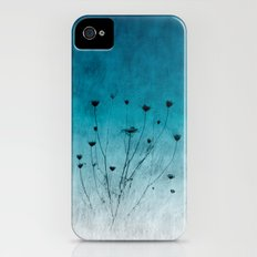 Blue Floral ~ silhouettes iPhone (4, 4s) Slim Case