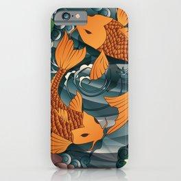 Carp Koi Fish in pond 001 iPhone Case