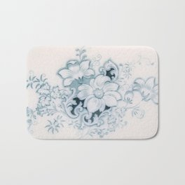 Vintage Flower Flow Bath Mat