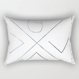God is greater Rectangular Pillow