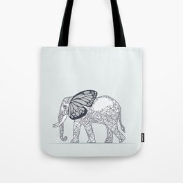 C13D Butterfly Elephant Tote Bag