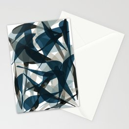 Abstract Whale Monotone Stationery Cards