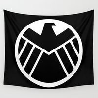 shield Wall Tapestries featuring SHIELD by Merioris