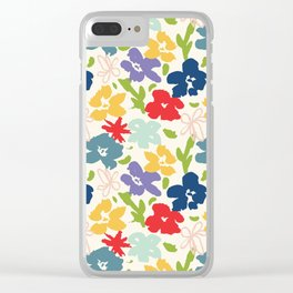 70s inspired loose florals Clear iPhone Case