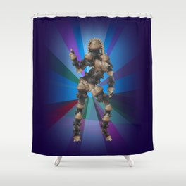 Sexy pump 3. On multicolored background (Predominance of violet) Shower Curtain