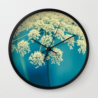 lace Wall Clocks featuring Lace by Olivia Joy StClaire
