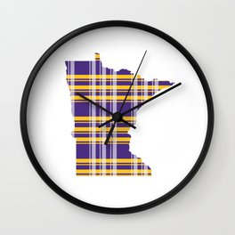 Minnesotans Love Football Wall Clock