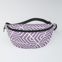 Pomp and Power - violet - Geometric Seamless Triangles Pattern Fanny Pack