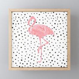 Flamingo Art print, Pink, Glam, Dalmatian, Tropical Art Framed Mini Art Print