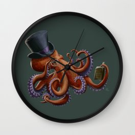 Tentacled Monocled Sir Wall Clock