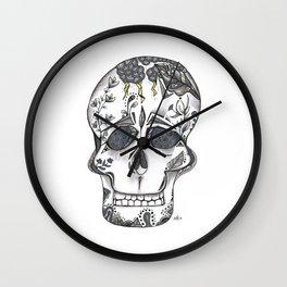 Gray Skull Wall Clock