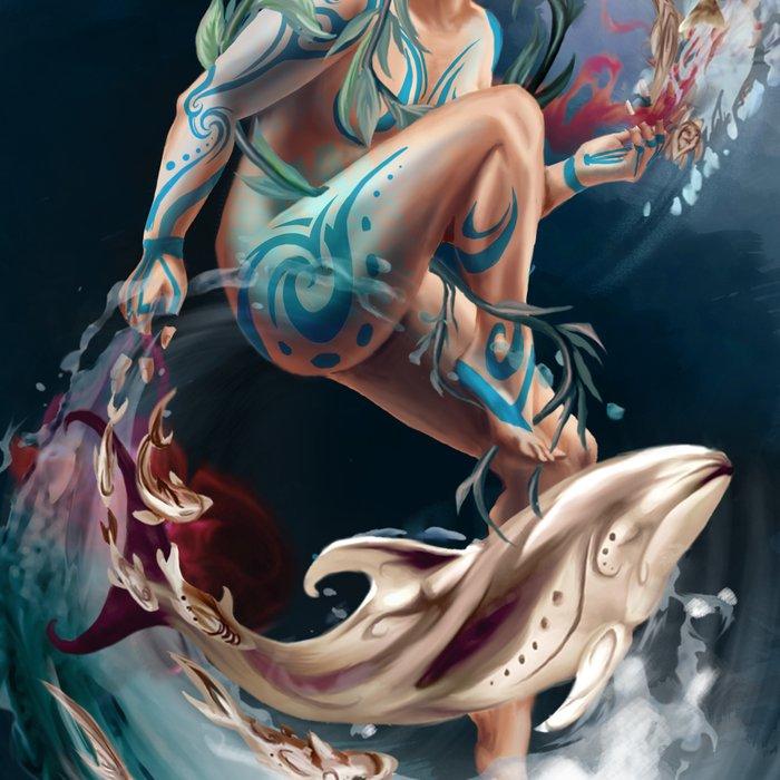 Sedna: Inuit Goddess of the Sea Leggings by ...