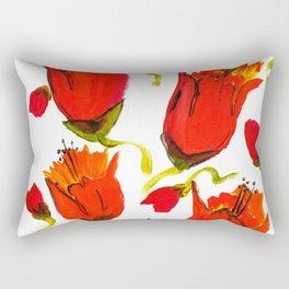 Orange n Red closed flowers Rectangular Pillow