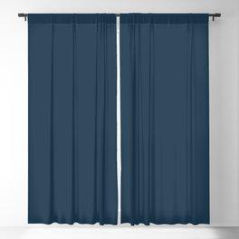 Cloud Contemplation ~ Dark Blue Blackout Curtain