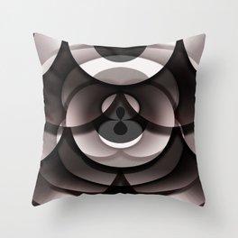 Overlay Doughnut Box Throw Pillow