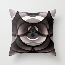 Overlay Doughnut Box Throw Pillow