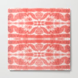 Tie Dye Twos Corals Metal Print