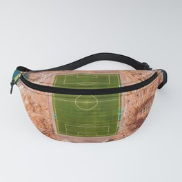 Soccer Field on a Remote Island - Aerial Photography Fanny Pack