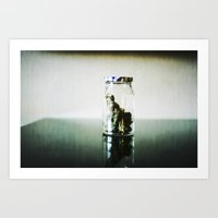 jar of weed  Art Print