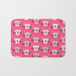 Cute cat pattern in pink Bath Mat