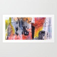 Abstract Experiment Art Print