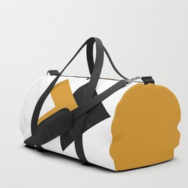 Forward marble yellow arrows Duffle Bag