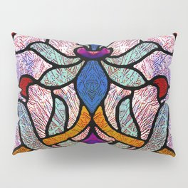 Art Nouveau Stain Glass Victorian Pastel Design Pillow Sham
