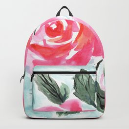 Farmhouse and Shabby Chic Rose Bouquet Chintz Rose Florals American Country English Backpack