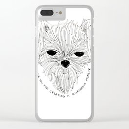 Thank you for creating a courageous monstr. Clear iPhone Case