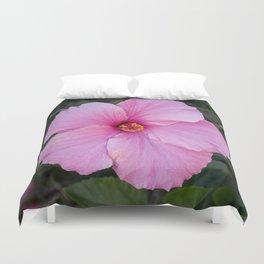 Single Pink Hibiscus Duvet Cover
