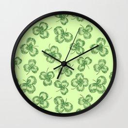 Clovers Wall Clock