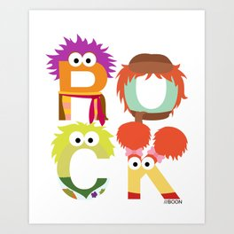 "A Fraggle ""ROCK"" Art Print"
