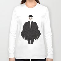 goth Long Sleeve T-shirts featuring Elegant goth by \nicolafleming