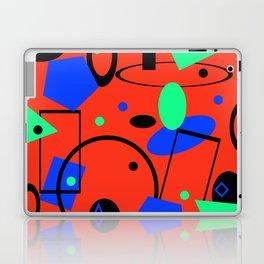 Retro abstract red print Laptop & iPad Skin