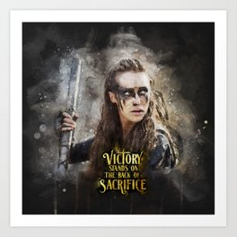Lexa - Victory Art Print